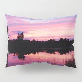 Pink Sunset Mirror Lake Pillow Sham