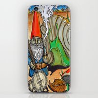 gnome iPhone & iPod Skins featuring Gnome by Steven Suiter