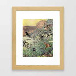 Mu Guai and the Tiger's Eye, Panel 4 Framed Art Print