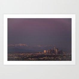 Dusk of LA Art Print