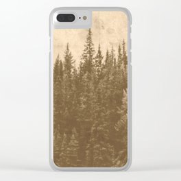 Vintage Forest Clear iPhone Case