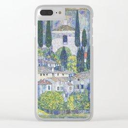 Gustav Klimt Church in Cassone Clear iPhone Case