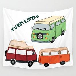 Van Life Camping Traveling Art Wall Tapestry