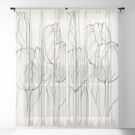 Stillness: Tulips Sheer Curtain