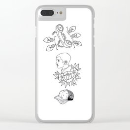 Science Fiction Character Illustration Clear iPhone Case