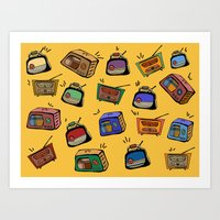 radio Art Prints featuring Radio Show by andy_panda_