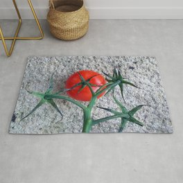 Ripe Red Tomato and Stems Rug