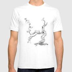 Hummingbird tree MEDIUM Mens Fitted Tee White