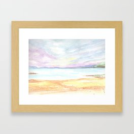 2019 Watercolor Sea Scape Series 004 Watercolor Painting Framed Art Print
