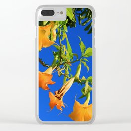 Modern Yellow Trumpet Tree Clear iPhone Case