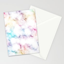 Rainbow Marble Pattern Stationery Cards