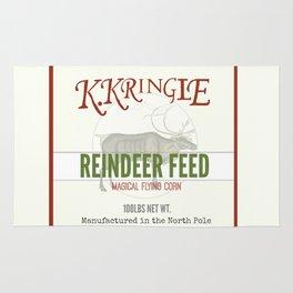 Christmas Reindeer Feed sack Rug