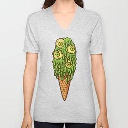 Mutant Ice Cream (slime) Unisex V-Neck