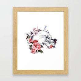 Roses Skull - Death's head Framed Art Print