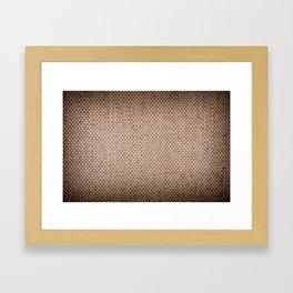 Beige burlap cloth texture abstract Framed Art Print