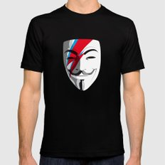 Who wants to be Anonymous? Let's be Fabulous! Viggy Starfawkes. Black LARGE Mens Fitted Tee