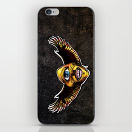 Happy Cycloptic Dog Eagle with a Stache (scratch back) iPhone Skin