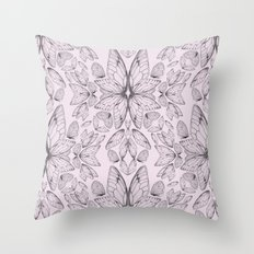 Rose Quartz Insect Wings Throw Pillow