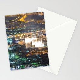 Photo Dubai Emirates UAE Megapolis Night Cities Building megalopolis night time Houses Stationery Cards