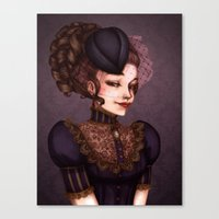 vampire Canvas Prints featuring Vampire by Christine Alcouffe