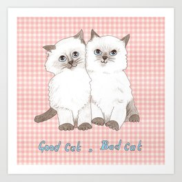 Naughty Kittens Art Print