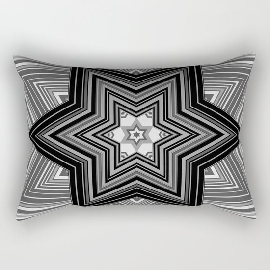 Black and white abstract pattern. Graphics.  Rectangular Pillow