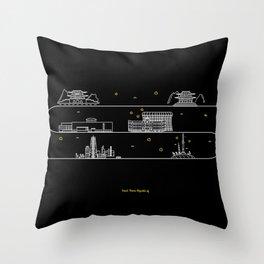 Seoul cityscape Korea Republic of graphics design Throw Pillow