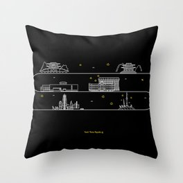 Seoul cityscape Korea Republic of graphics design Throw Pillow