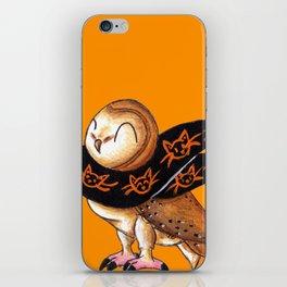 Happy Owl-o-Ween (Barn Owl) iPhone Skin
