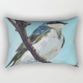 Tree Swallow on Branch Rectangular Pillow