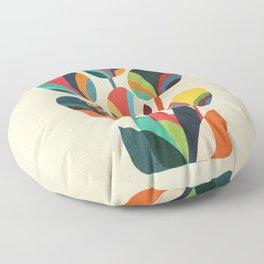 Ikebana - Geometric flower Floor Pillow