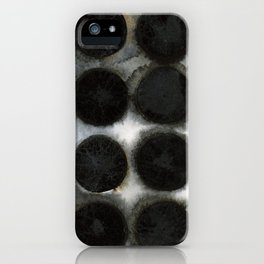 WATERCOLOUR DISCS: Black Spinel iPhone Case