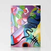 kandinsky Stationery Cards featuring KANDINSKY - oil painting by Heaven7