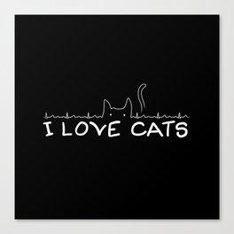 I Love Cats Canvas Print