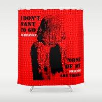 oscar wilde Shower Curtains featuring Oscar Wilde #7 I don't want to go to heaven by bravo la fourmi