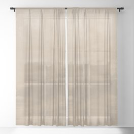 Burst of Color Pantone Hazelnut Abstract Watercolor Blend Sheer Curtain