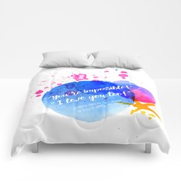 """Percy Jackson Percabeth House of Hades """"I love you too!"""" Quote Comforters"""