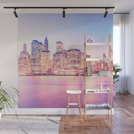 New York City Skyline - Lights Wall Mural