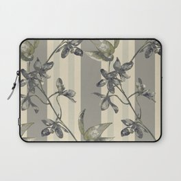 Flowers and Stripes One Laptop Sleeve
