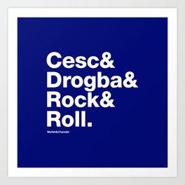 Cesc&Drogba&RocknRoll Art Print