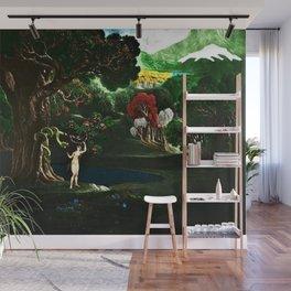 Satan Tempting Even in the Garden of Eden Landscape Painting by Jeanpaul Ferro Wall Mural