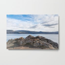 A Rock Dreams of Being a Mountain Metal Print
