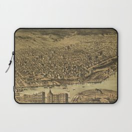 Vintage Pictorial Map of Tacoma WA (1890) Laptop Sleeve