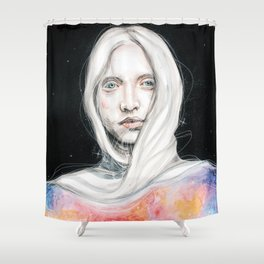 Too many thoughts crowd my mind... Shower Curtain