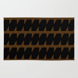 Black & Tan Dog Tooth Design Rug