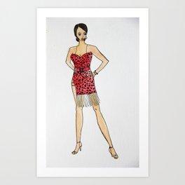 Leopard Print Cha Cha Costume Art Print