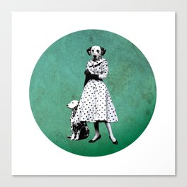 Two dalmatians - humor Canvas Print