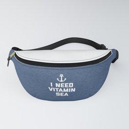 Vitamin Sea Quote Fanny Pack