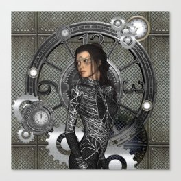 Steampunk, steampunk lady Canvas Print