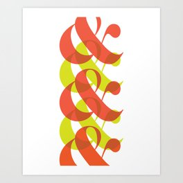 Colorful Ampersand Art Print